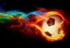 Пламенный футбольный мяч заставки на рабочий стол hd