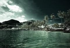 Океан, пальмы заставки на рабочий стол hd