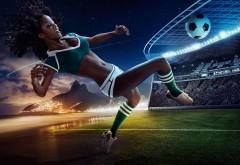3D девушка футболистка заставки на рабочий стол hd