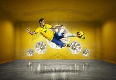 Бразильский футболист с мячем заставки на рабочий стол hd