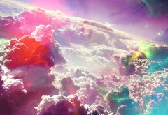 Красочные облака фэнтези заставки широкоформатные ск�…