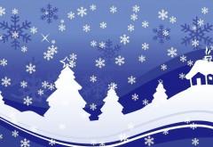 Абстрактные обои зима