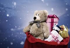 Подарки, плюшевый мишка, игрушки, праздник, обои, скачать