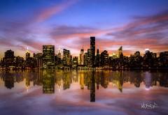 Манхэттен закат картинки для рабочего стола скачать