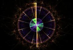 Загадочная обойка со спектром в центре