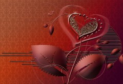 Сердце, любовь, романтика, фоновые заставки, бесплатно