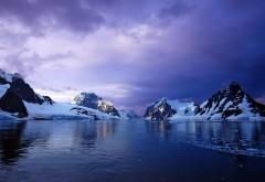 Фиолетовое небо, Антарктида, Лемер канал, картинки