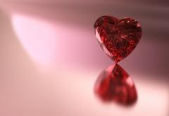 Красный Рубин Сердце картинки для рабочего стола скач�…