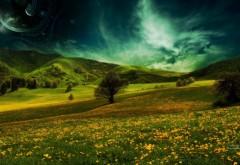 Необыкновенное небо над полем
