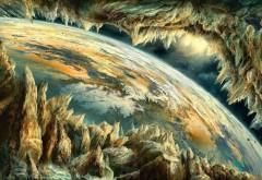 Земля, космические планеты, скалы картинки