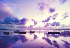 Фиолетовый закат океан картинки для рабочего стола ск�…