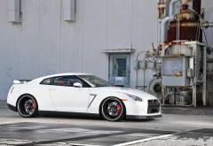 Nissan GTR R35 белый автомобиль картинки