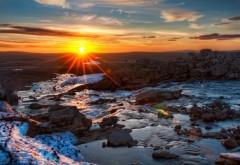 Красивый закат солнца обои