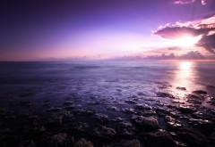 Пурпурный морской пейзаж картинки для рабочего стола �…