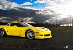 Желтый Корвет спортивный автомобиль картинки