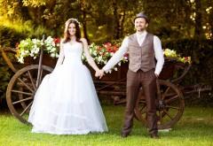 HD свадебная парочка, романтические обои, бесплатно