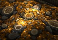 Интересная абстракция в золотистом цвете