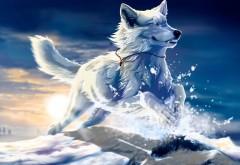 Заставка нарисованного щенка хаски