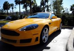 Желтый Астон Мартин автомобиль картинки для рабочего �…