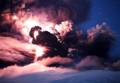 HD обои Фото бушующей грозы с молниями