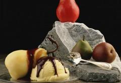 HD обои, помидор, груши, яблоко, вилка, натюрморт
