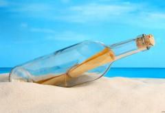 HD обои послание в бутылке на морском пляже