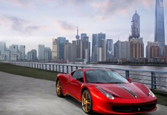 HD обои Красный автомобиль Ferrari