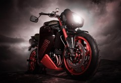 Бульдог триумф мотоцикл широкоформатные HD обои скачат…