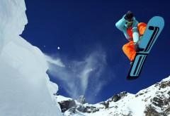 Сноубордист широкоформатные HD обои скачать на рабочий…