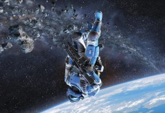 Рисунок космонавта HD обои скачать на рабочий стол