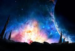 Галактика широкоформатные HD обои скачать на рабочий с�…