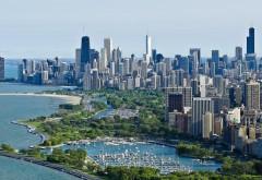Чикаго небоскребы вид сверху на океан заставки скачат�…