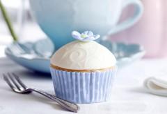 Кекс, торт, вилка, десерт, фоны, заставки