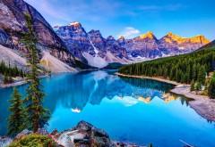 Природа, Горы, небо, озеро, облака, фоны, заставки