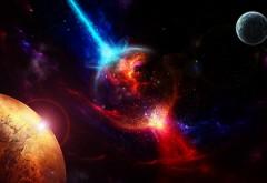 Космические планеты, взлет, взрыв, фоны, заставки