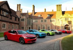 Двор, годовщина, Dodge Challenger, SRT RT Hellcat, фоны, заставки