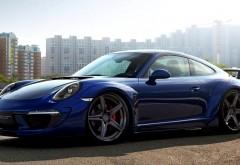 Porsche 911 Carrera синий заставки скачать на рабочий стол
