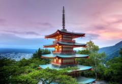 Широкоформатная картинка японского домика скачать