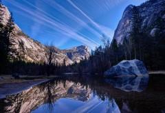 Горы, небо, природа, деревья, фоны, заставки