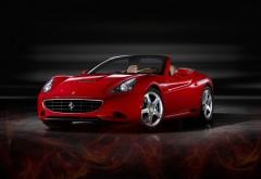 Фото красного автомобиля марки Ferrari без верха скачать