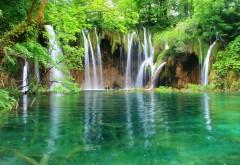 Водопады, джунгли, деревья, фоны, заставки