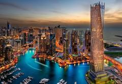 Дубай, ОАЭ, здания, небоскребы, ночь, фоны, заставки
