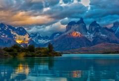 Пейзаж, Аргентина, горное озеро, облака, природа, фоны, �…