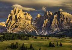 Швейцарские Альпы, Италия, природа, доломитовые горы, фоны, заставки