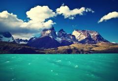Небо, море, холма, облака, побережье, обои hd, бесплатно