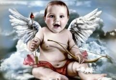Маленький ангел, ребенок, малыш, Амур, Купидон, обои hd, б…