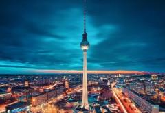 Берлин, германия, город, экзотическое освещение, ночь, �…