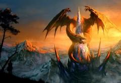 Удивитильный дракон, фэнтези, 3D, обои hd, бесплатно