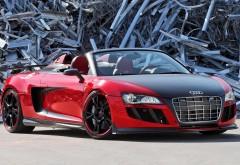 Audi R8, Audi кабриолет, свалка, вид спереди, обои hd, бесплатн…