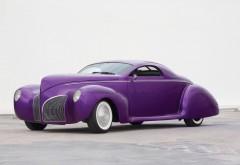 Фиолетовый ретро автомобиль обои hd бесплатно